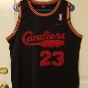 Navy Blue Nike Cavaliers Lebron James Jersey